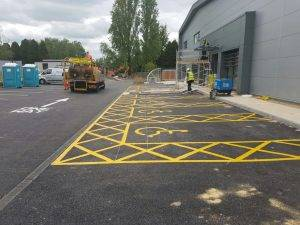 Disabled Bay Markings