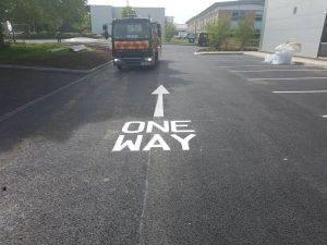One way road marking arrow