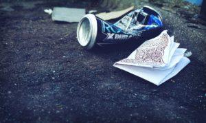 Litter roadside